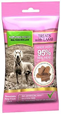 3 x Packs of Real Lamb mini treats (for small dogs) 60g packs - Natures Menu - Made with 95% REAL MEAT - Wheat & Gluten Free