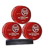 RedOne Aqua Wax Full Force Lot de 3 peignoirs de poche 150 ml + peigne de coiffage...