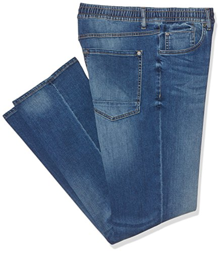 PJ Schlubu Superstretch N, Jean Coupe Large Homme Bleu (Stonewashed 91)