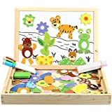 Magnetisches Holzpuzzle, Innoo Tech Doppelseitige Holzpuzzle, Magnetisches Holzspielzeug, Puzzle aus Holz, Pädagogische Lernspiel, Tolles Geschenk für Baby Kleinkinder ab 3 Jahre