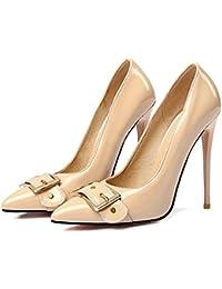 5b0ef6aae5a Mei S La Mujer Toe Puntiagudas Stiletto Boca Superficial Prom Boda Zapatos  de Tacones Altos Tribunales Bombas