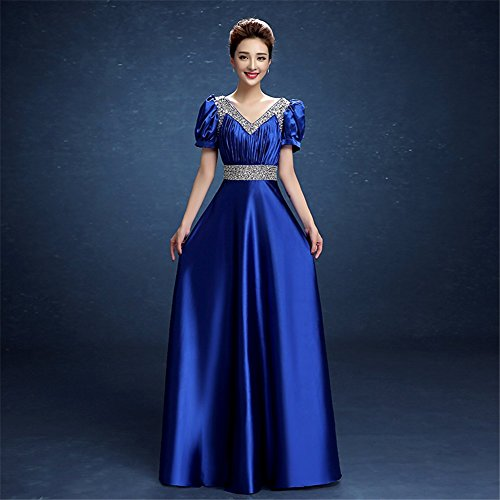 Empire kleid blau