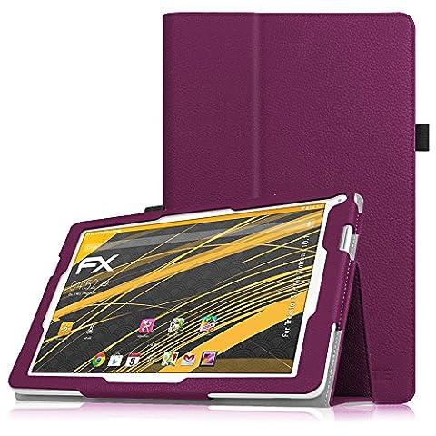 Fintie TrekStor SurfTab xintron i 10.1 Hülle Case - Slim Fit Folio Kunstleder Schutzhülle Cover Tasche mit Ständerfunktion für TrekStor SurfTab xintron i 10.1 (25,7 cm (10,1 Zoll) wi-fi Tablet (nicht geeignet für TrekStor SurfTab xintron i 10.1 3G Tablet), Lila