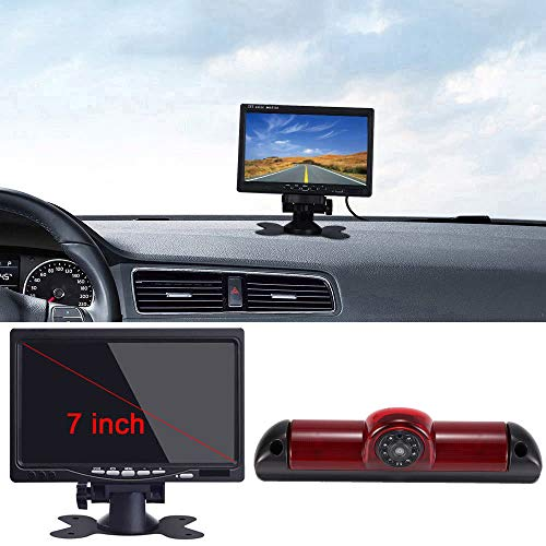 "Klakus Auto Dach Top Mount Bremsleuchte Kamera Bremslicht Rückfahrkamera für Fiat Ducato/Peugeot Boxer/Citroen Jumper/Dodge+7\""Zoll DVD Monitor TFT Bildschirm LKW KFZ LCD Display"