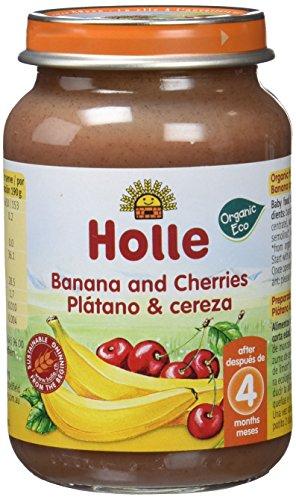 Holle Potito de Plátano y Cereza (+4 meses) - Paquete de 6 x 190 gr - Total: 1140 gr