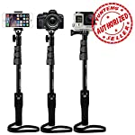 Shopizone Yunteng Yt 1288 Bluetooth Selfie Stick is defined by functionality and elegance, and comes with a detachable bluetooth clicker remote. The standby time of the Selfie Stick make it practical enough for everyday use, and the sturdy build prov...