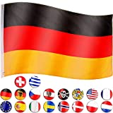 FLAGMASTER Fahne Flagge, 18 Verschiedene Fahnen zur Wahl, Metallösen zur Befestigung, Deutschlandfahne 3 Jahre Garantie