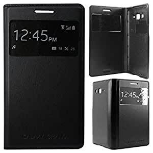Flip cover for Samsung Galaxy Grand 2 G7106/G7102 S-View Black color