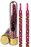 Ivybands | IVYLACES Pink Yellow Leopard | Premium Schnürsenkel | Schuhband ILACE026