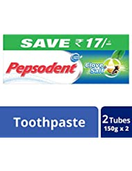 Pepsodent Clove and Salt Toothpaste - 2x150 g (Save Rupees 17)