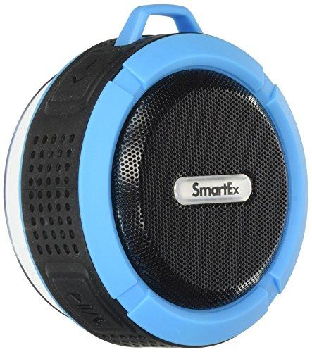 Smartex, Cassa Altoparlante Bluetooth Impermeabile IP65 da doccia A2DP, Sistema vivavoce per auto, Microfono incorporato, Ricaricabile, per Smartphone, Tablet, PC, Colore Blu