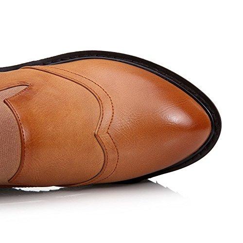 Adee pour femme élastique cales polyuréthane Pompes Chaussures Jaune