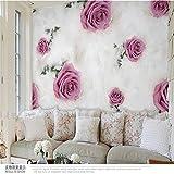 Tapeten Wandbild Wandaufklebergroßhandel 3D Wandbild Tv Hintergrund Vlies Romantische Lila Rose Wandbild Wandbild Fototapete Wohnzimmer Wandbilder, 300 * 210Cm