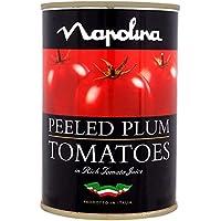 Napolina pelado Tomates de ciruelo 400 g (peso escurrido 260 g) (Pack de 12 x 400 g)