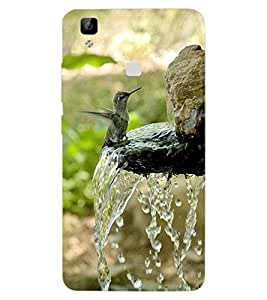ColourCraft Beautiful Bird Design Back Case Cover for VIVO V3 MAX