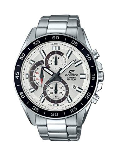 Casio orologio cronografo quarzo uomo con cinturino in acciaio inox efv-550d-7avuef