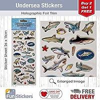 Fun Stickers Undersea Sharks 1013