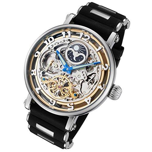 Skelett Untergang Armbanduhr mit Silikon Band (Skelett Valentines)