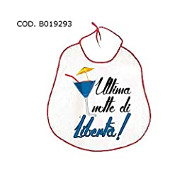 Idea Regalo - Dream' s Party La BAVAGLIA bavaglione dell'ADDIO al CELIBATO - idea scherzo gaget per festa del futuro SPOSO - La Moglie L'ho Trovata! Ora cerco L'AMANTE!!
