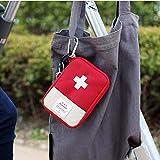 Berrose Medizinische Tasche Emergency Survival Drug Speicher Kit Behandlung Outdoor-Heimrettung-tragbar Medizin Aufbewahrungstasche-Erste-Hilfe-Box Tragbare Medizinbox für Überlebensmedizin Pillen