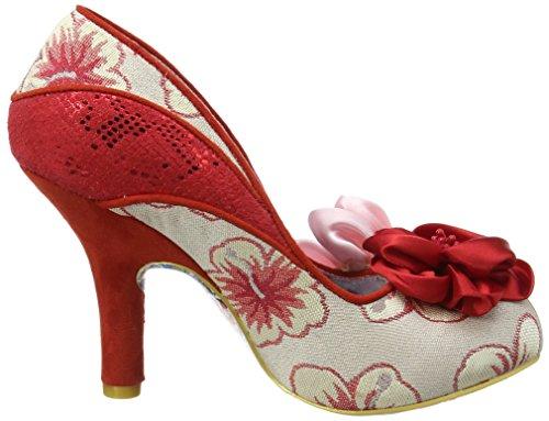 Irregular Choice Damen Peach Melba Pumps, Rose Red (Red/Pink)
