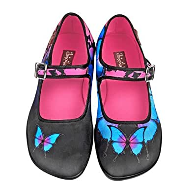 hot chocolate design chocolaticas dark butterfly ballerines mary jane pour femmes multicolore. Black Bedroom Furniture Sets. Home Design Ideas