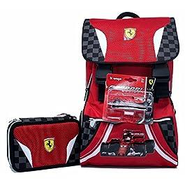 621338f442 Promo Scuola Zaino Estensibile + Astuccio 3 Zip Ferrari Kids ...