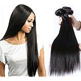 """Puddinghair 7a 3pc 300g / pack brasileña recta del pelo humano Extensión Naturaleza Negro (30""""30""""30"""")"""