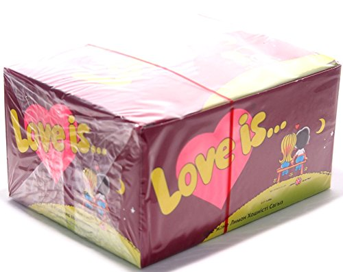 Preisvergleich Produktbild Love is... Kaugummi - Kirsch- Zitronen Geschmack 100 Stück x 4, 2 Gramm