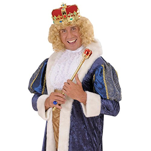 Kostüm Zarin - Amakando Kaiser Krone Königskrone Kaiserkrone Fasching Kaiser Kopfschmuck Juwelen Zar Märchen Königin Königkrone Mittelalter Mottoparty Accessoires Karneval Kostüm Zubehör