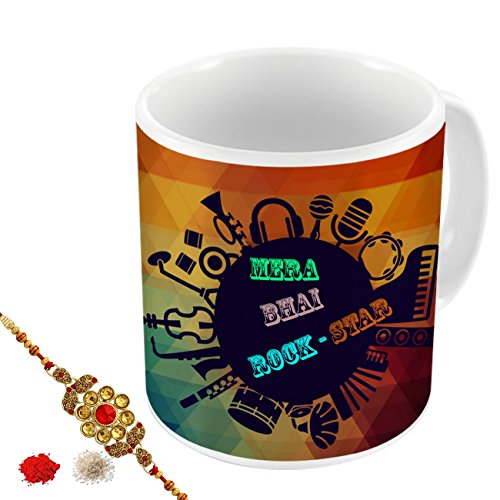 Aart-Store-Mera-Bhai-Rock-Star-Multi-Colours-Printed-MugRakhiRoliChawal-Gift-Pack-for-BrothersSisters-to-Enjoy-Raksha-Bandhan-Festival