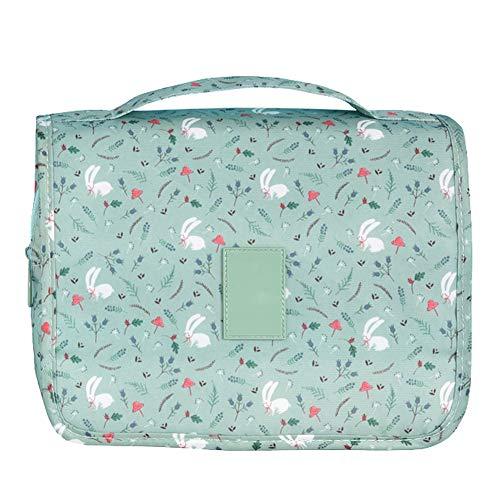 Wicemoon 1pcs Verde Bolsa de Maquillaje para Mujer Estuche de Cosméticos Bolsa de Almacenamiento de Artículos de Tocador