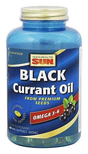 Health From The Sun - olio di ribes nero da Premium semi 500 mg. - 180 Softgel(s) Mini