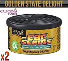 California Car Scents Golden State Delight Ambientador Hogar Furgoneta Oficina Taxi x2