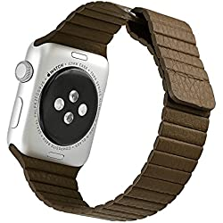 iwatch H421 Leather Strap Lychee Brown
