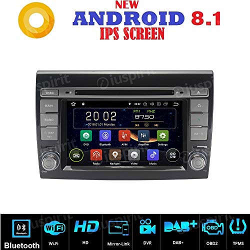 Android 7.1GPS DVD USB SD Wifi Bluetooth Radio 2Din navegador Fiat Bravo...