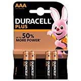 Duracell Plus Power - Pilas Alcalinas AAA, paquete de 4