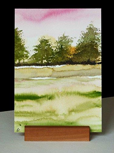 Postkarte + Briefumschlag / Landschaft No 19 / Unikat / Aquarellkarte