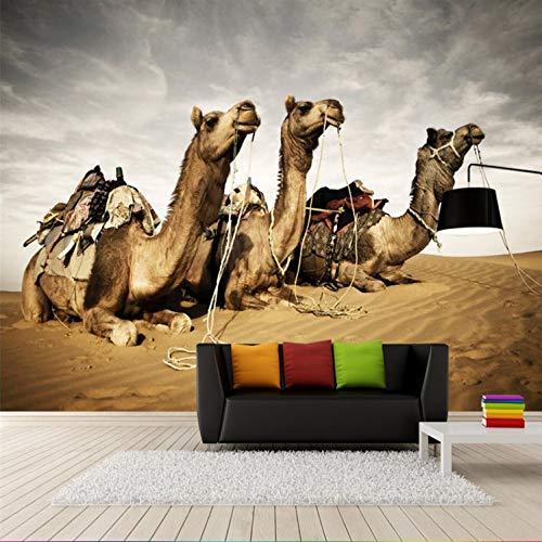 Fototapete Wandbild Wandaufkleber 3D Kamel Wüste Gobi Tv Wand Schlafzimmer Wohnzimmer Hintergrund Dekoration 350X256 Cm - Sonnenaufgang In Der Wüste Fertig