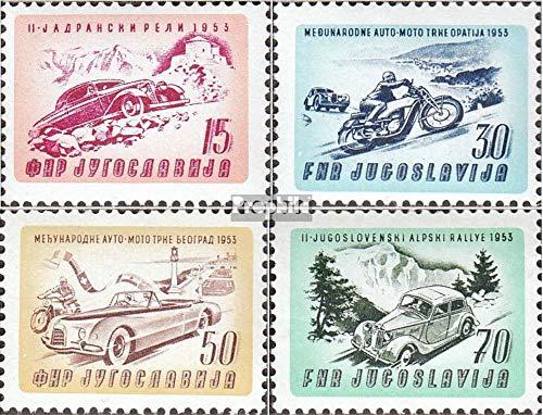 Prophila Collection Jugoslawien 724-727 (kompl.Ausg.) 1953 Auto- und Motorradrennen (Briefmarken für Sammler) Straßenverkehr