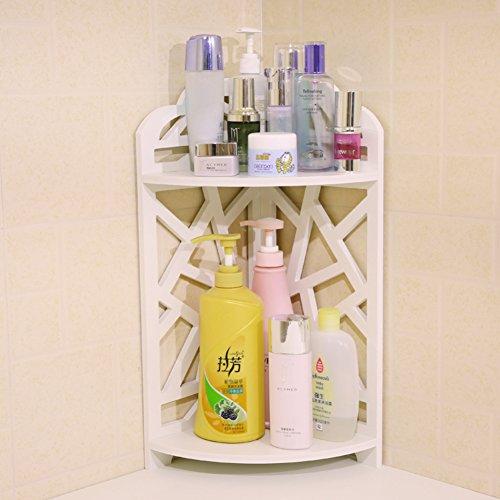 Bad Doppel Rack/Kosmetische Haut Pflege Produkte eingearbeitete finishing Regal/Desktop-Ecke Blumenständer/Racks-A