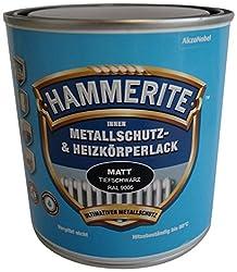 AKZO NOBEL (DIY HAMMERITE) Innen Metallschutz- und Heizkörperlack 5117864, matt tiefschwarz ral 9005, 500ml