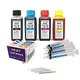 Kit de recarga para cartuchos de tinta Epson T18, T18 XL negro y color + cartuchos recargables y accesorios