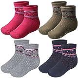 4 Paar Kinder Thermo Socken mit Innenfrottee in tollen Farben und in 3 Größen - Qualität von Lavazio®, Farbe:mehrfarbig, Größe:27-30