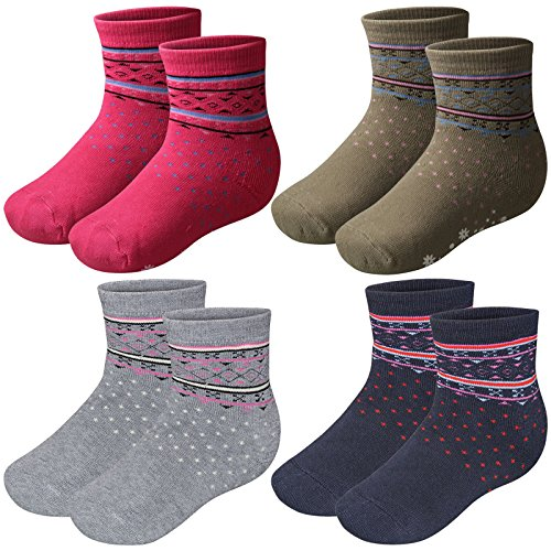 4 Paar Kinder Thermo Socken mit Innenfrottee in tollen Farben und in 3 Größen - Qualität von Lavazio®, Farbe:mehrfarbig, Größe:27-30 (Socken Kinder Winter)