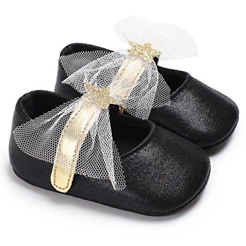 Chaussures bébé,Xinan Chaussures Fille Cuir Souple Chaussures premiers pas 0-18Mois