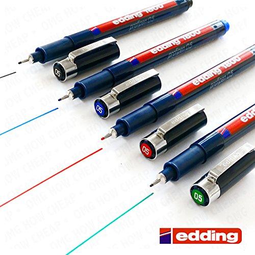 Preisvergleich Produktbild Edding 1800profipen Fineliner/Zeichenstift,0,5mm,4er-Set in Schwarz, Blau, Rot, Grün