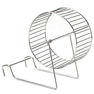 Beeztees Hamster Wheel, 12 cm, Metal Chrome_P 515vUb8i65L