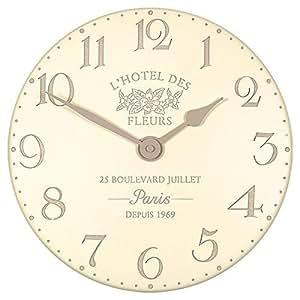 Hotel Des Fleurs Wall Clock Finish: Crème
