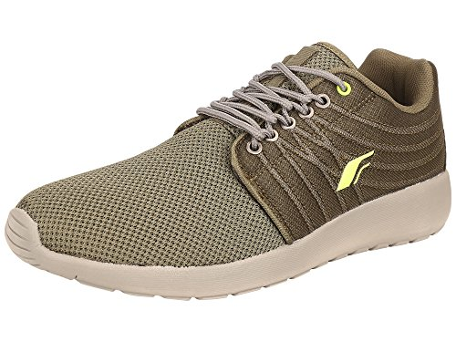 Fsports Mens Olive Grey Synthetic and Nylon Mesh Sport Shoes 7UK  available at amazon for Rs.702